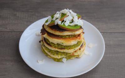 Gezonde courgette pannenkoekjes met kiwi jam