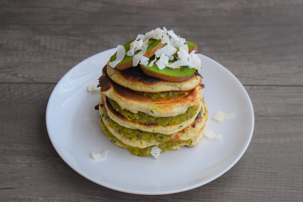 courgette pannenkoekjes kiwi jam