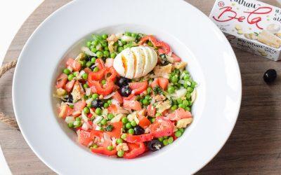 Simpele doperwten salade met bacalhau