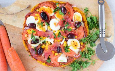 Portugese pizza recept met bodem van wortel