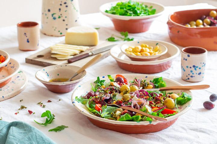 lupine boontjes salade vegetarisch geroosterde druiven