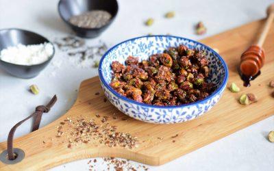 snack: zoete crunchy pistache