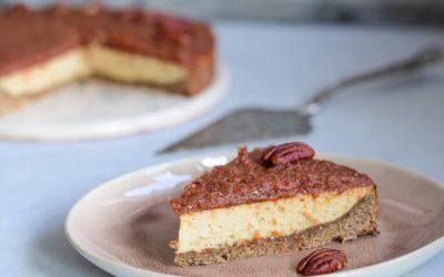 Gezonde cheesecake met tomatenjam