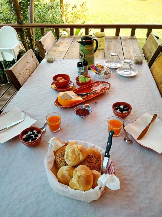 glamping portugal cascalhal ontbijt