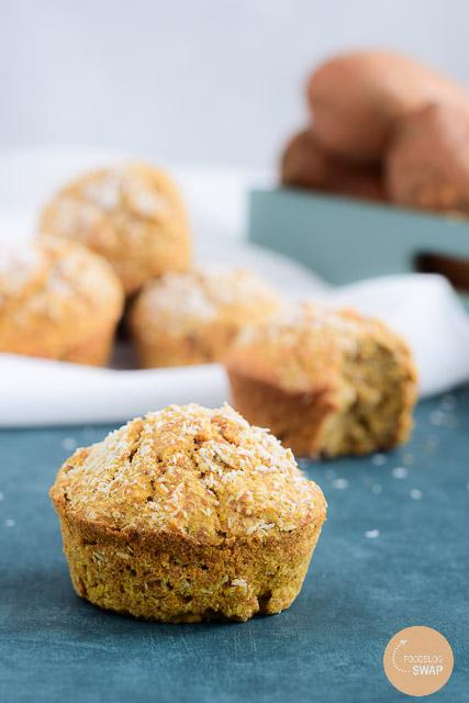 zoete aardappel muffins kokos