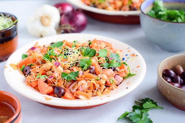 Portugese kikkererwten salade grao de bico-4