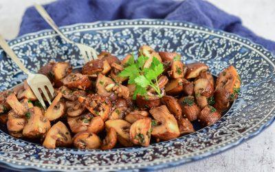Perfect gebakken champignons op Portugese wijze