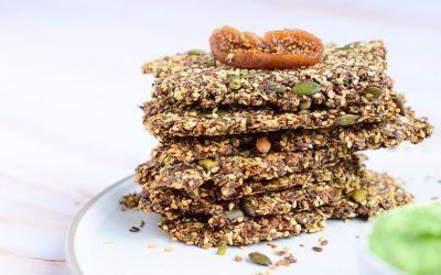 Recept voor gezonde crackers van zaden en pitten