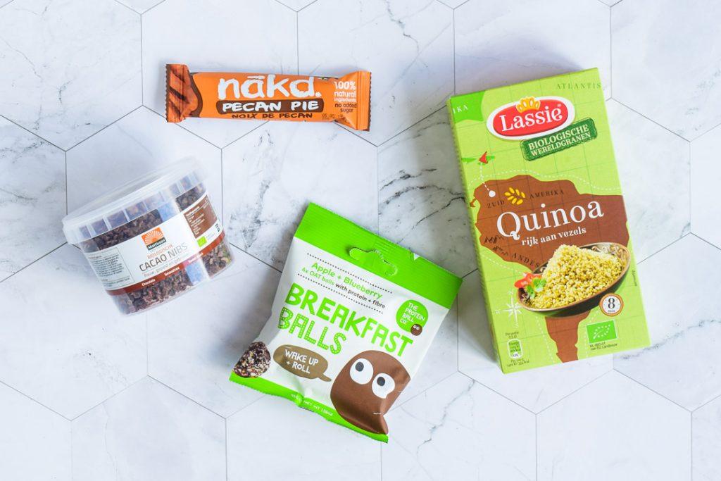 review quinoa cacao nibs nakd eten