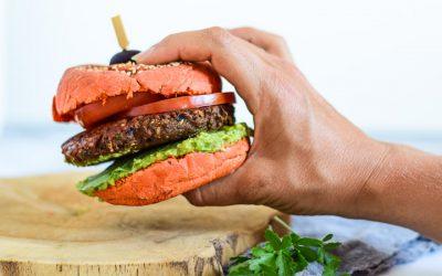 Champignonburgers met olijven (vegan)