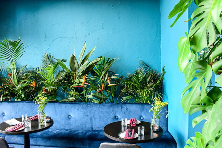 NOMADS Amsterdam interieur blauw groen