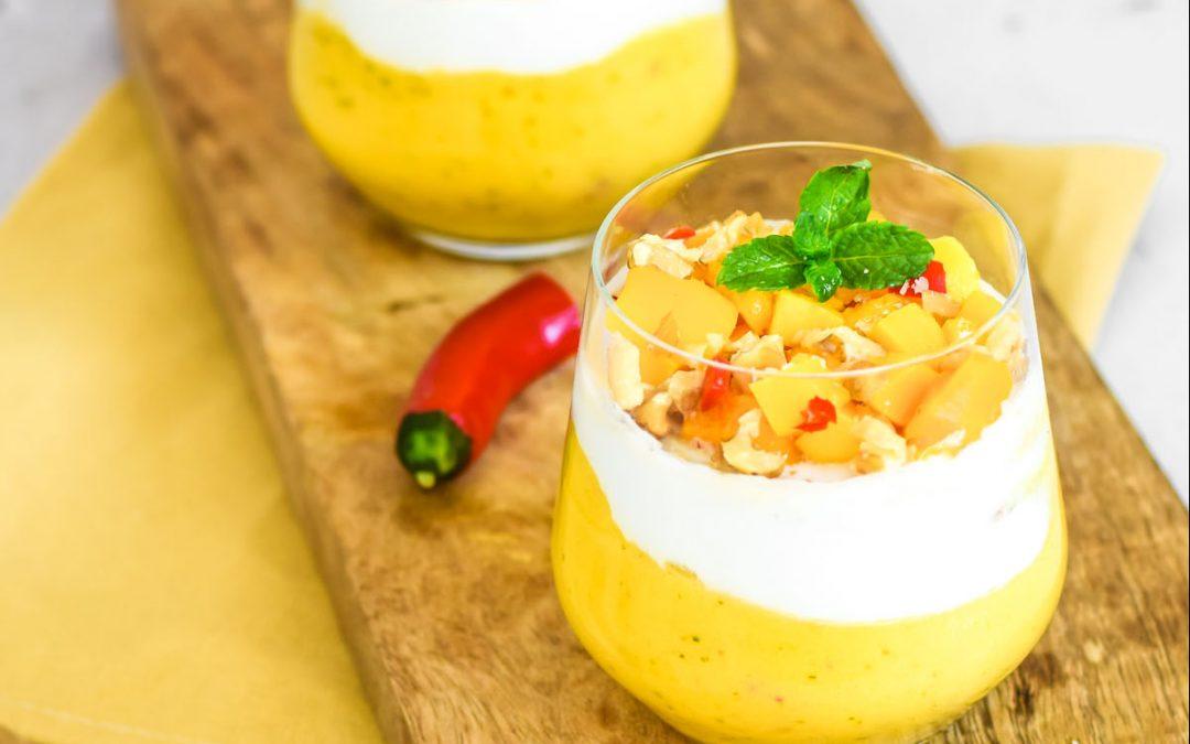 Mango mousse recept met kokosroom en peper (suikervrij)