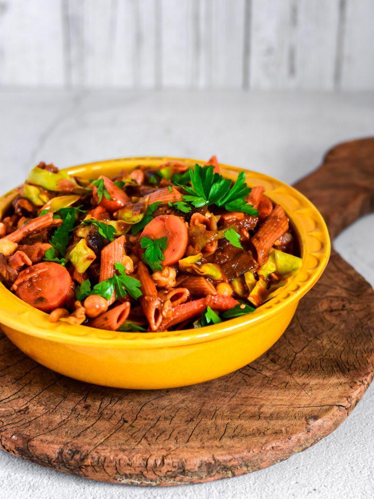 eenpanspasta vegan rancho portugees