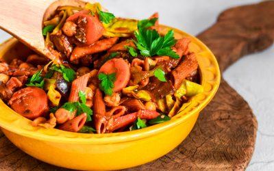 Eenpans pasta – vegetarische Rancho à portuguesa