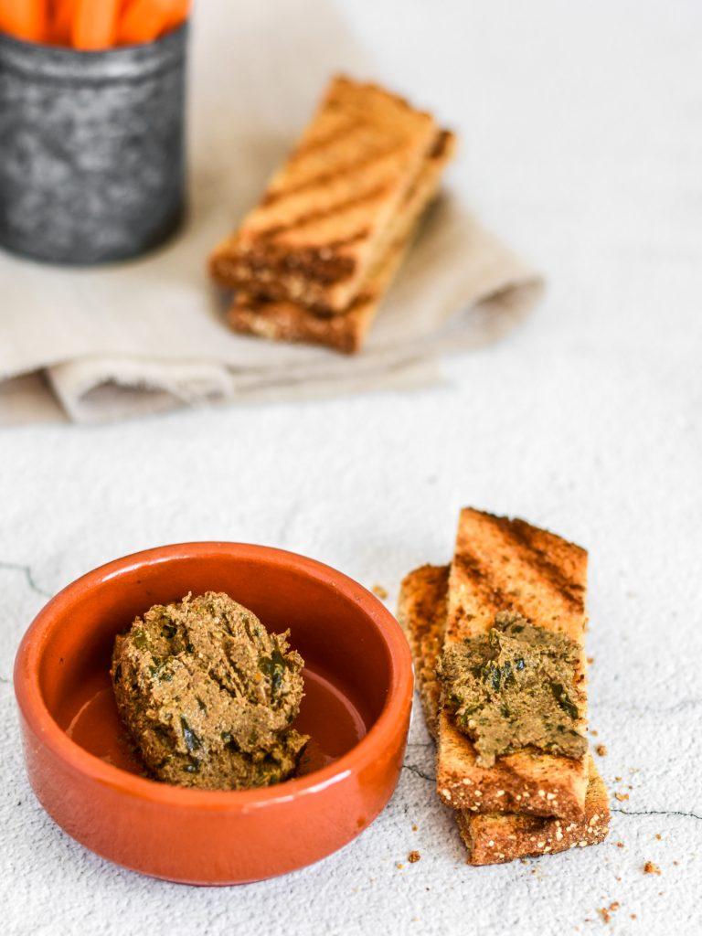 vegan sardine paté