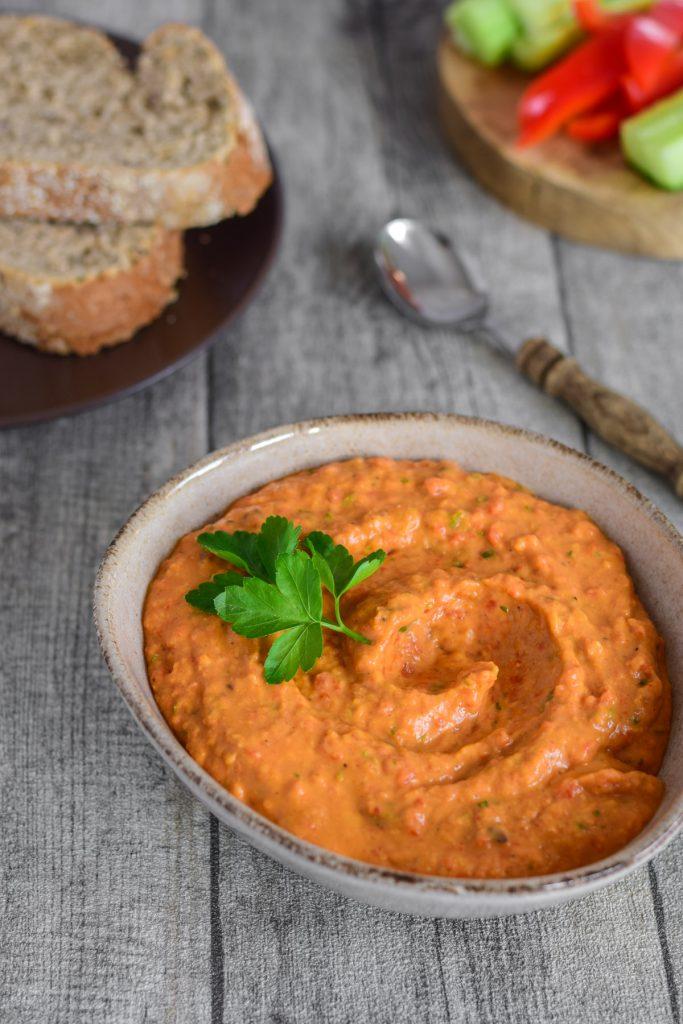 witte bonen spread met paprika