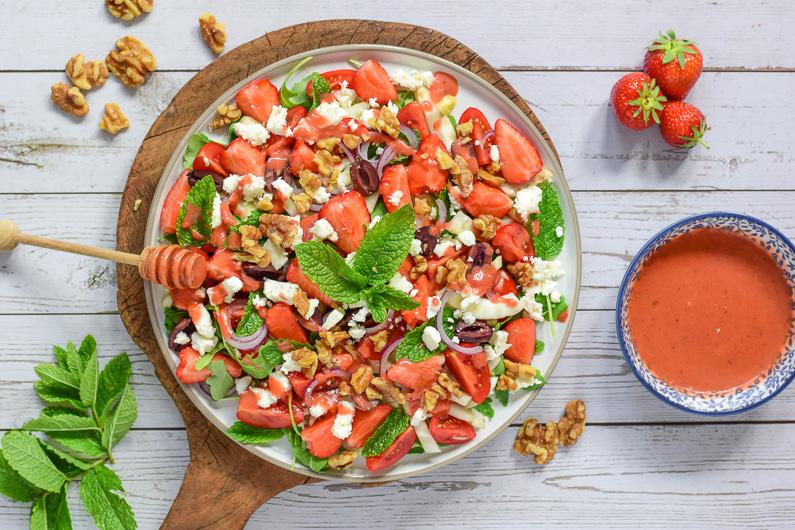 Venkel salade met aardbeien en feta