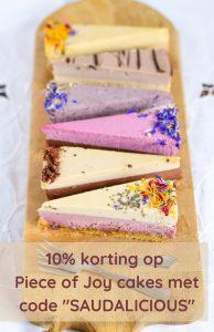 piece of joy suikervrije taart